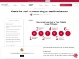 11 reasons why you need live chat now