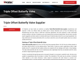 Triple Offset Butterfly Valve Supplier & Manufacturers India