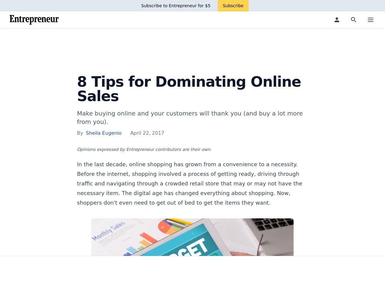 8 Tips for Dominating Online Sales