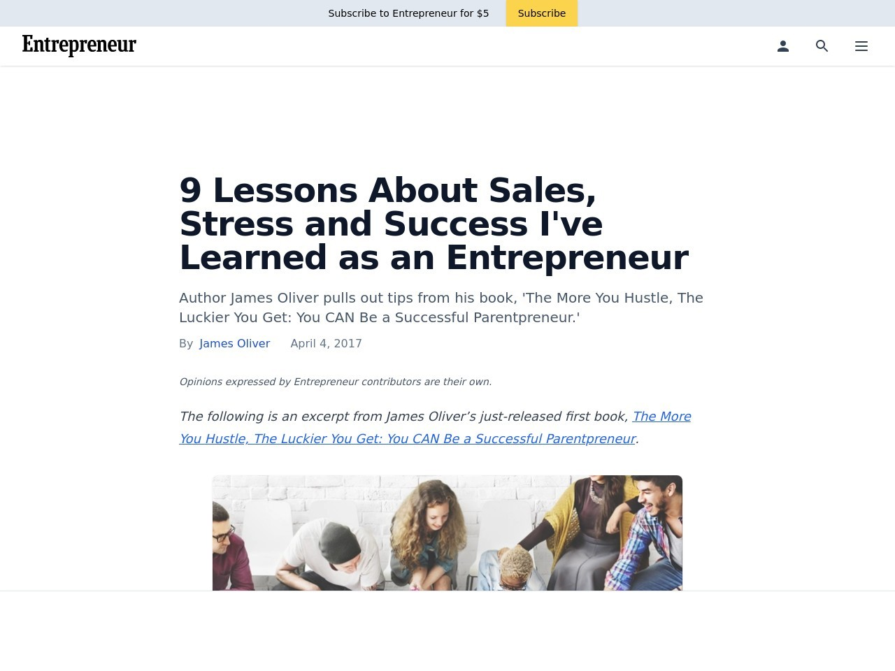 9 Lessons About Sales, Stress and Success I've Learned as an Entrepreneur