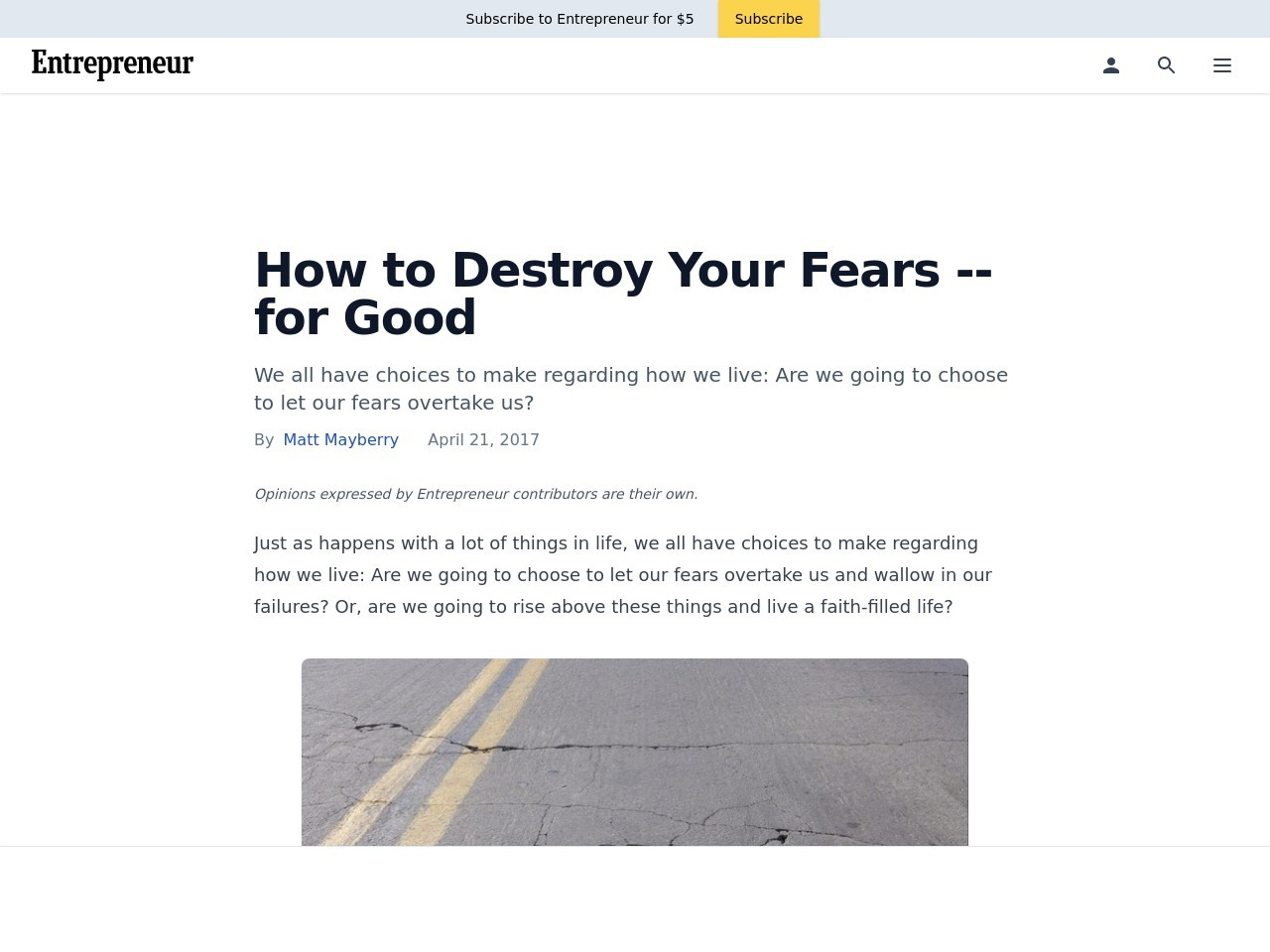 How to Destroy Your Fears — for Good