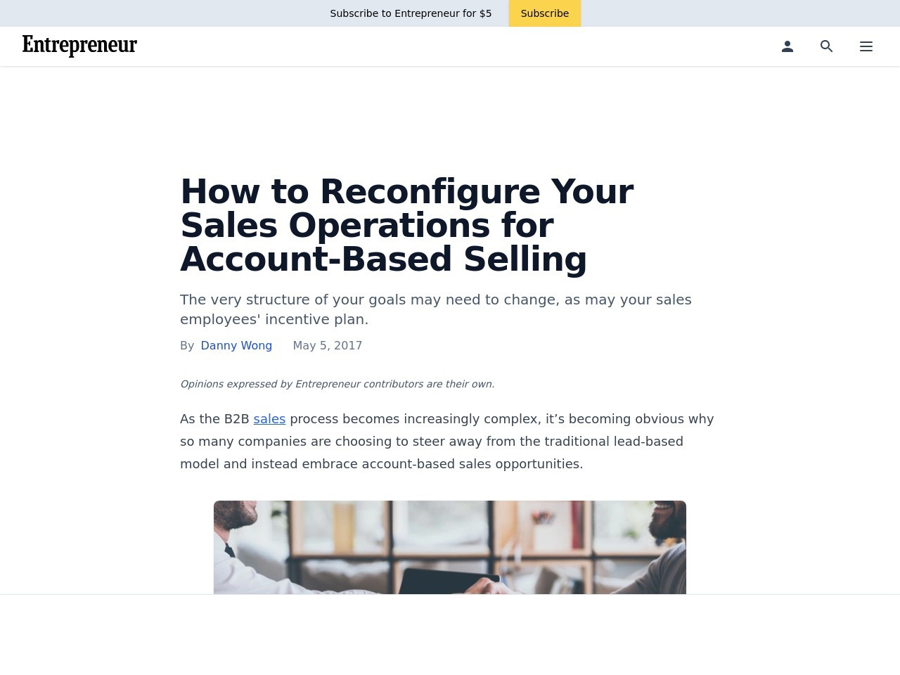How to Reconfigure Your Sales Operations for Account-Based Selling