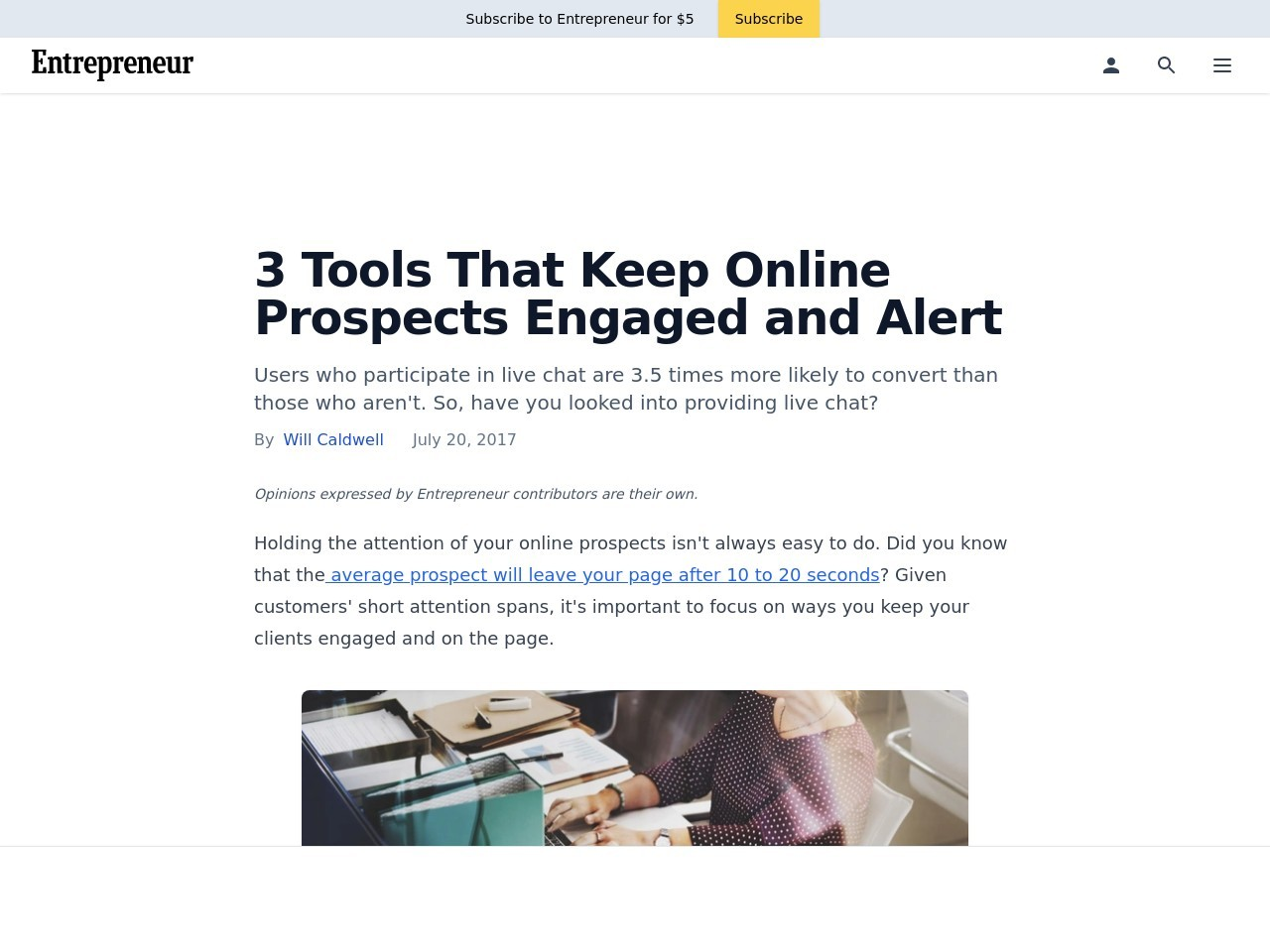 3 Tools That Keep Online Prospects Engaged and Alert