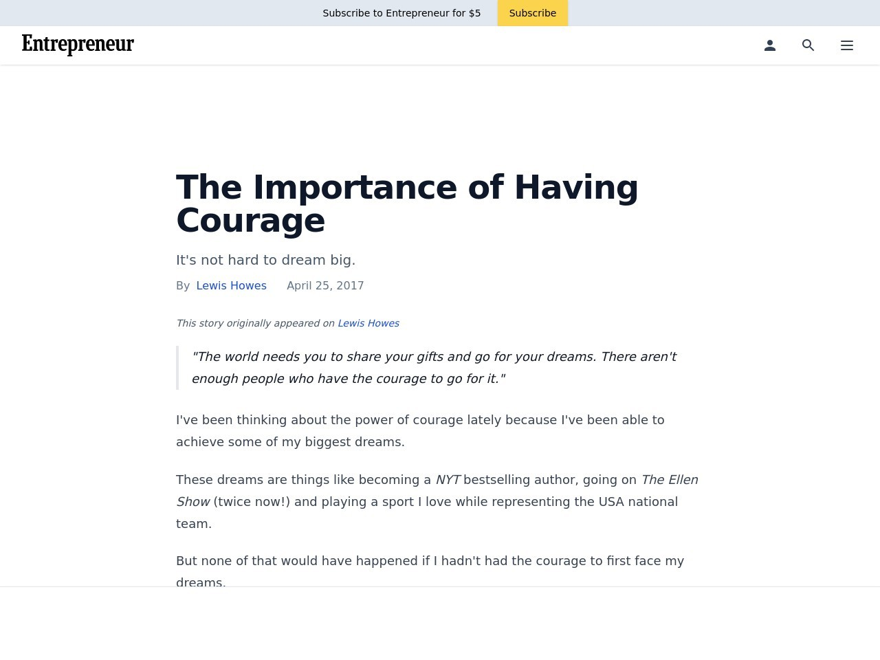 The Importance of Having Courage