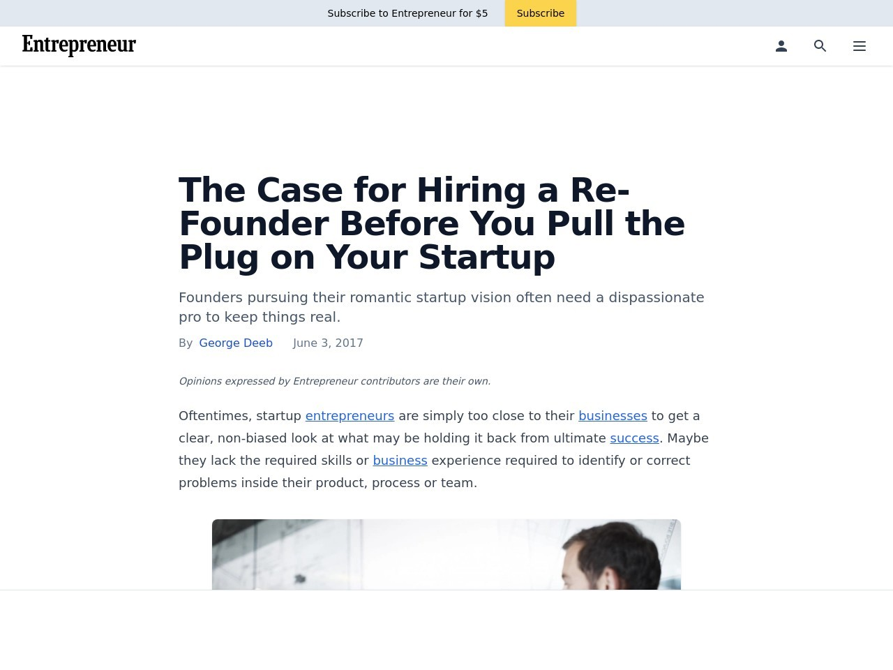 The Case for Hiring a Re-Founder Before You Pull the Plug on Your Startup