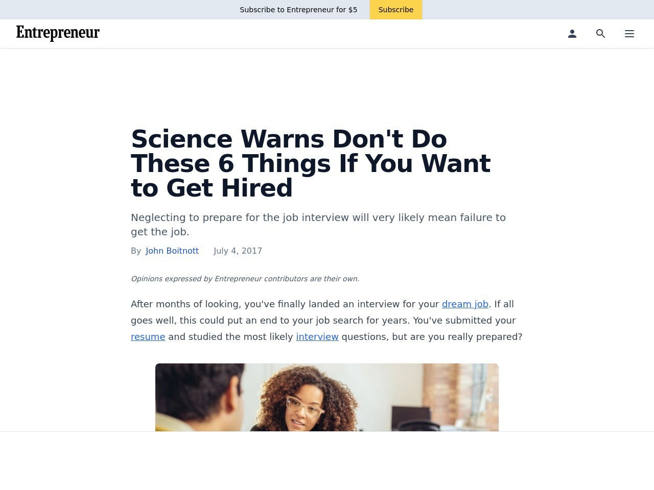 Science Warns Don't Do These 6 Things If You Want to Get Hired