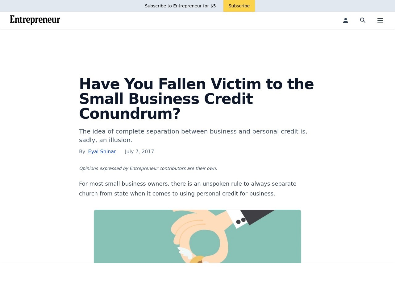 Have You Fallen Victim to the Small Business Credit Conundrum?