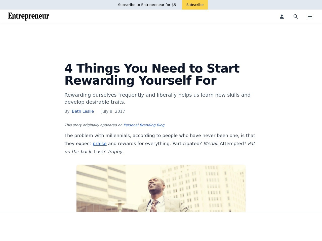 4 Things You Need to Start Rewarding Yourself For