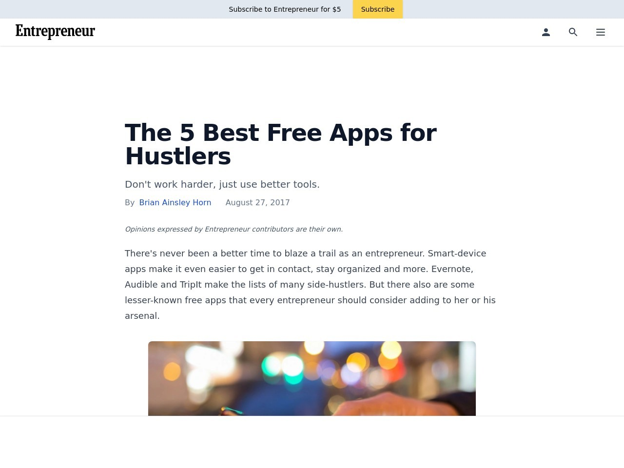 The 5 Best Free Apps for Hustlers