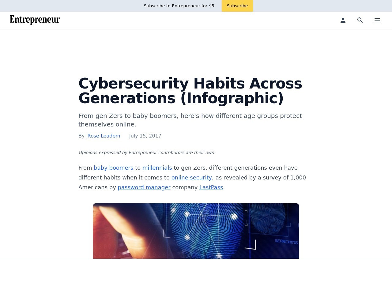 Cybersecurity Habits Across Generations (Infographic)