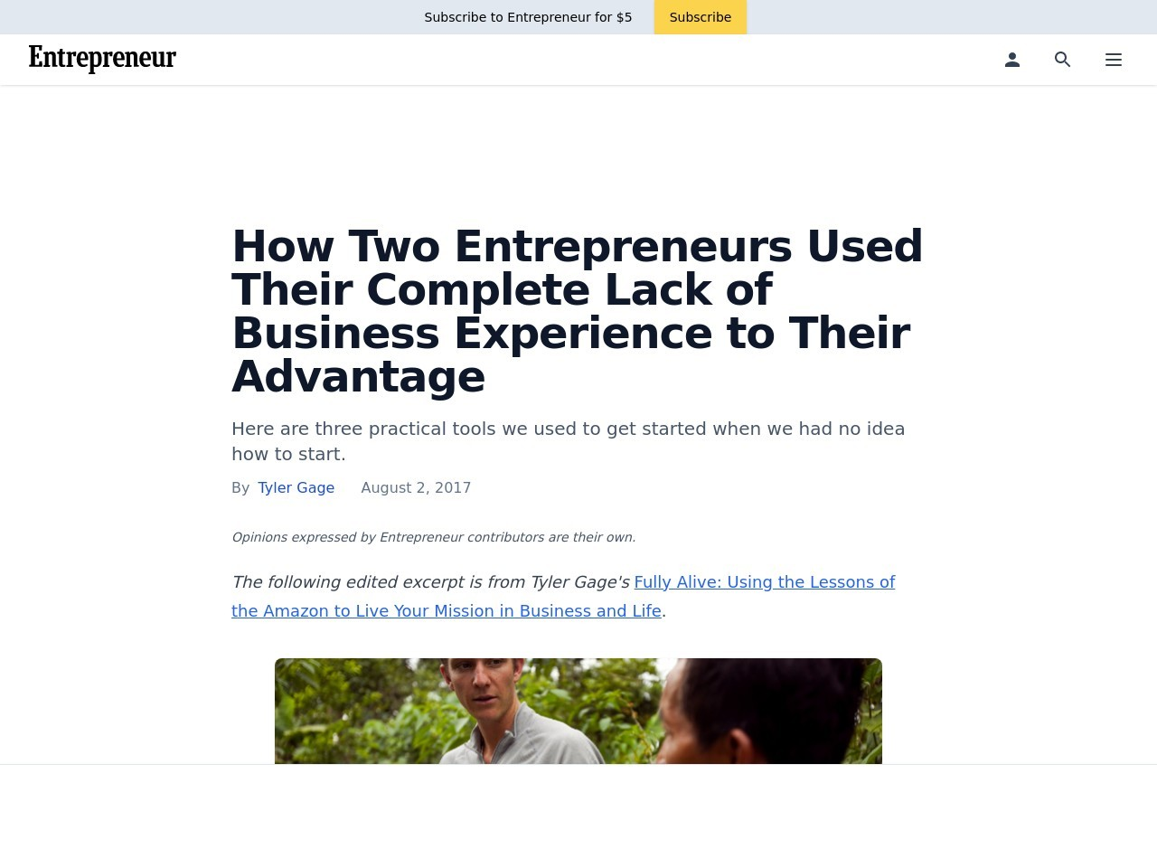 How Two Entrepreneurs Used Their Complete Lack of Business Experience to Their Advantage