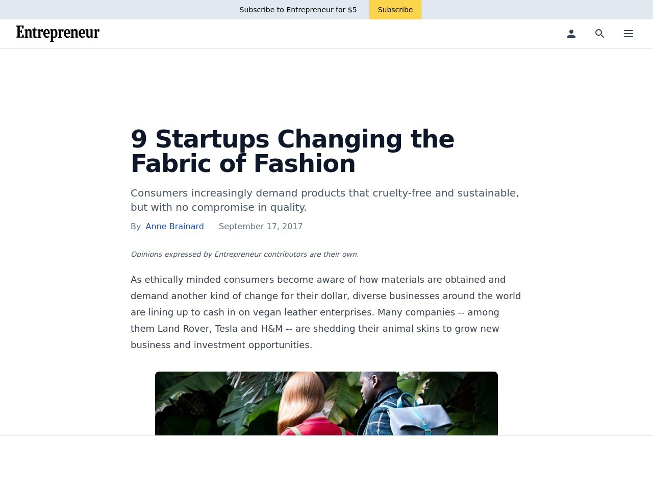 9 Startups Changing the Fabric of Fashion