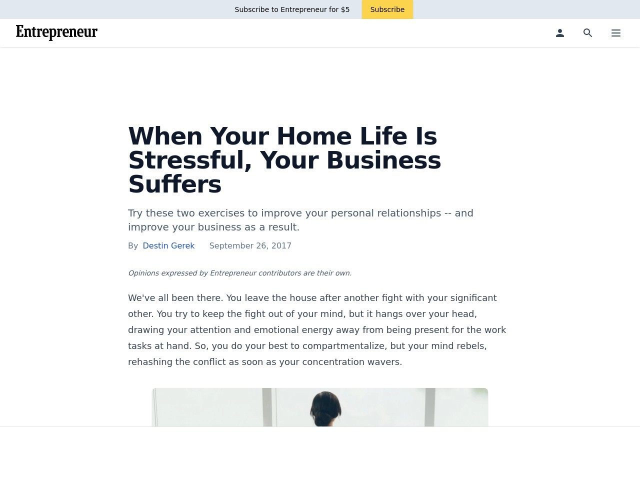 When Your Home Life Is Stressful, Your Business Suffers