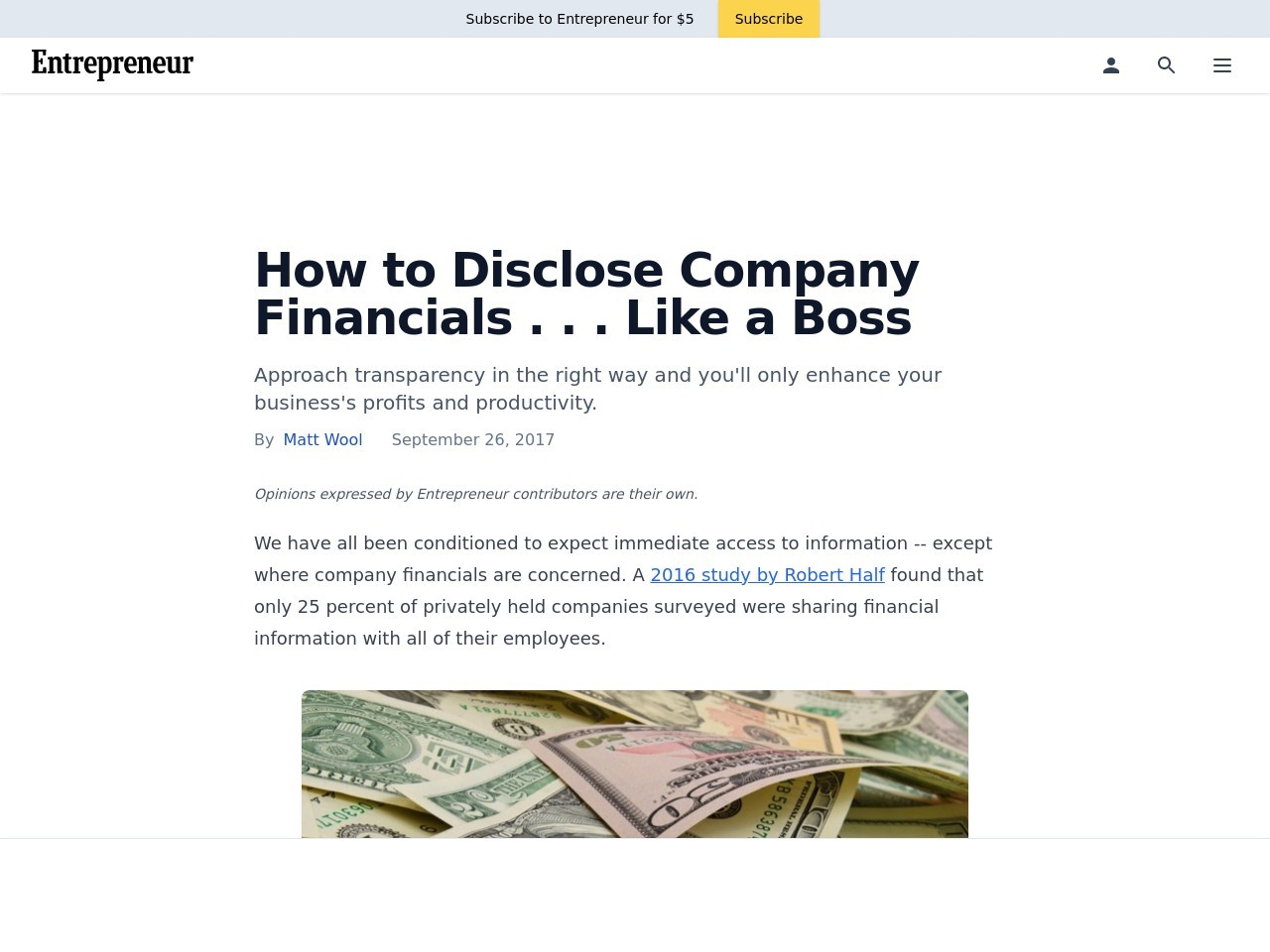How to Disclose Company Financials . . . Like a Boss