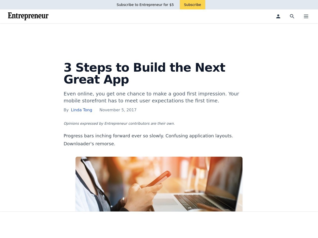 3 Steps to Build the Next Great App