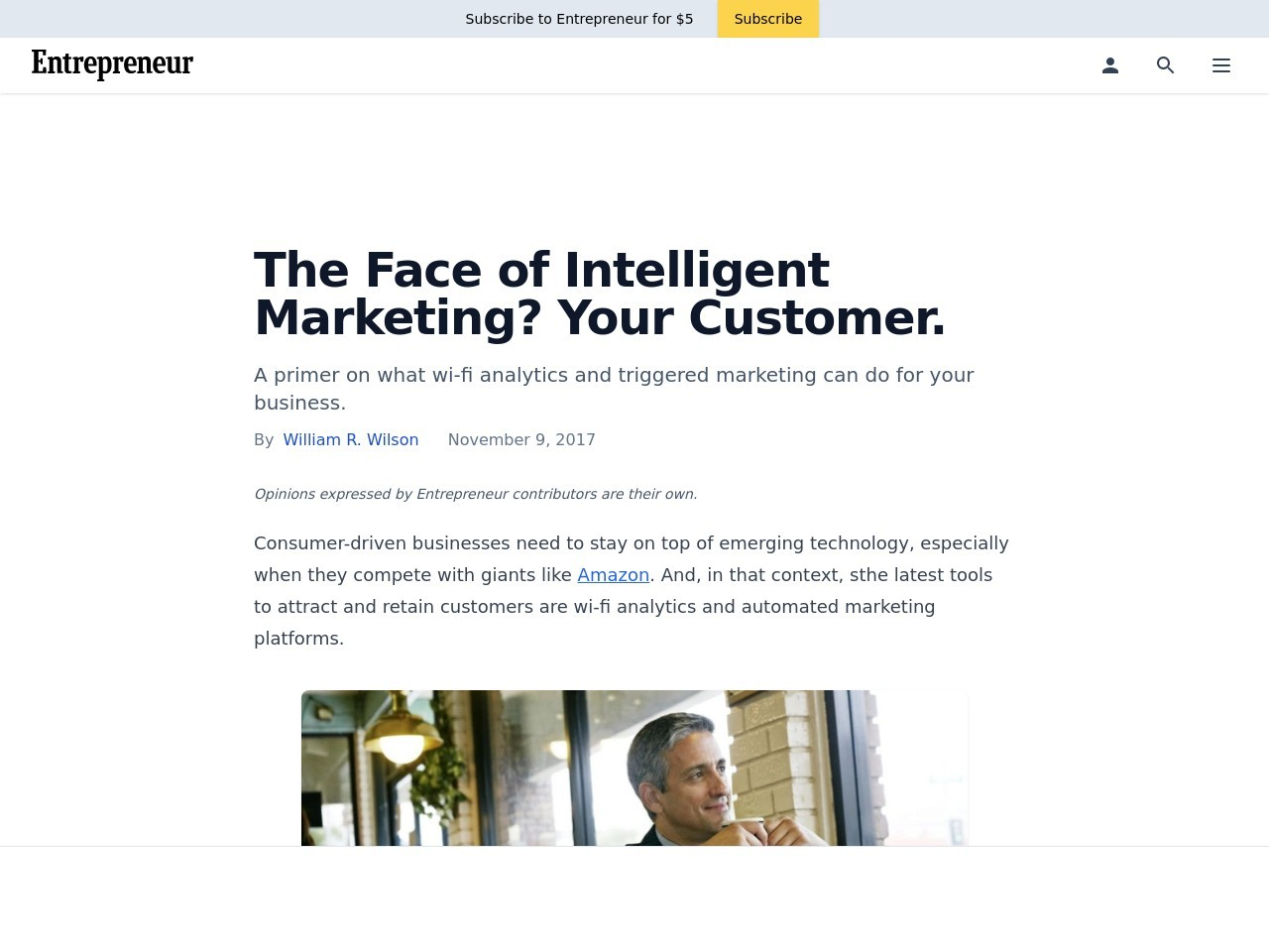 The Face of Intelligent Marketing? Your Customer.