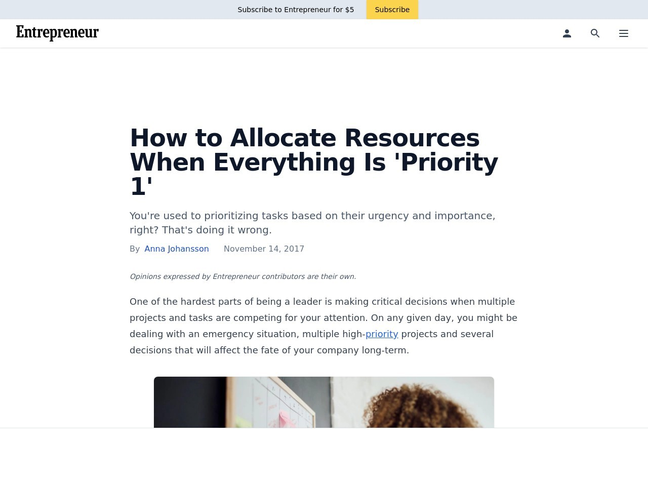How to Allocate Resources When Everything Is 'Priority 1'