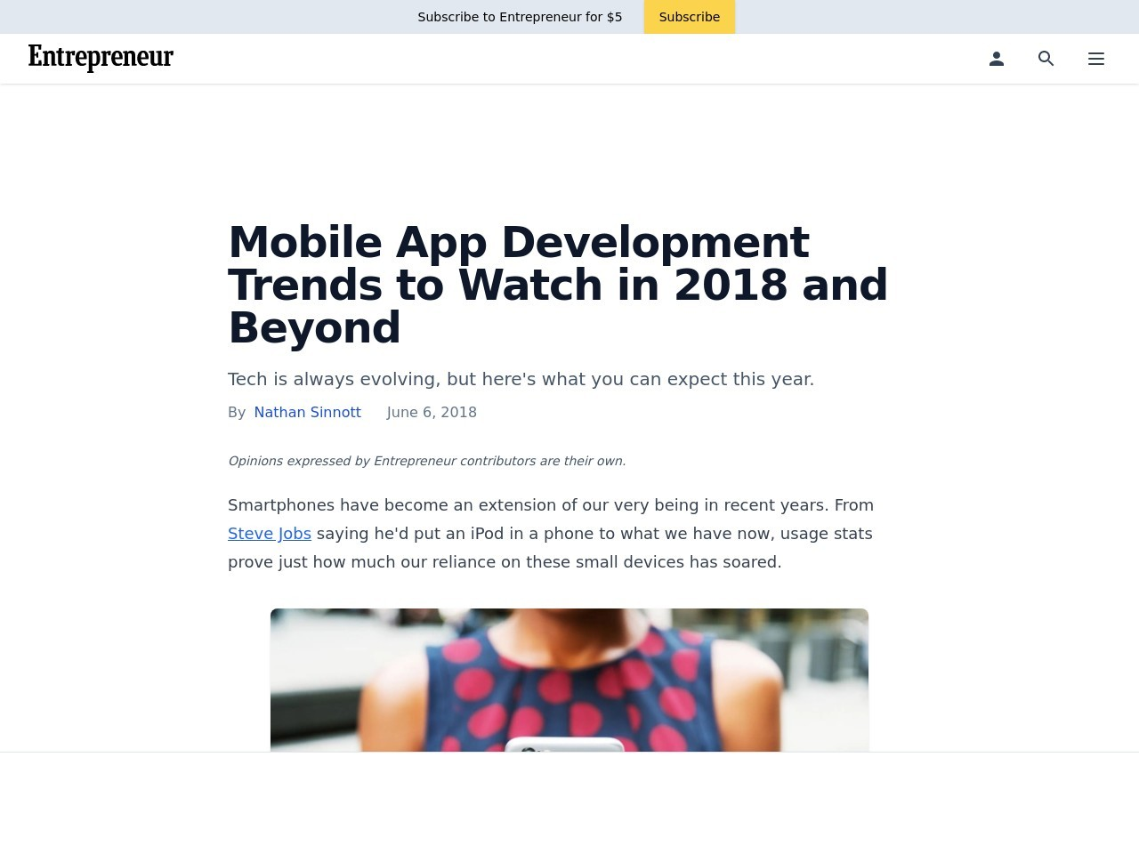 Mobile App Development Trends to Watch in 2018 and Beyond