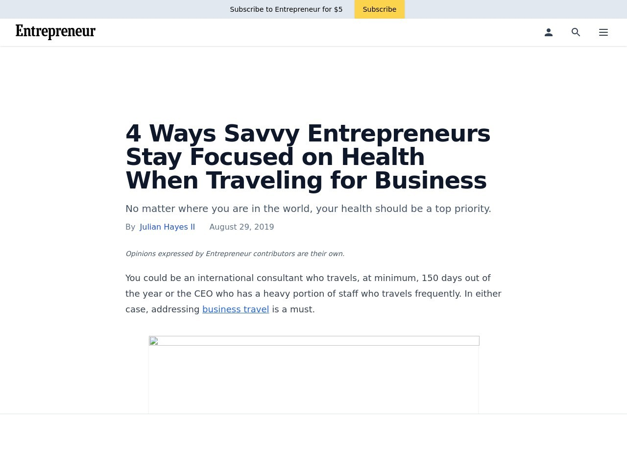 4 Ways Savvy Entrepreneurs Stay Focused on Health When Traveling for…