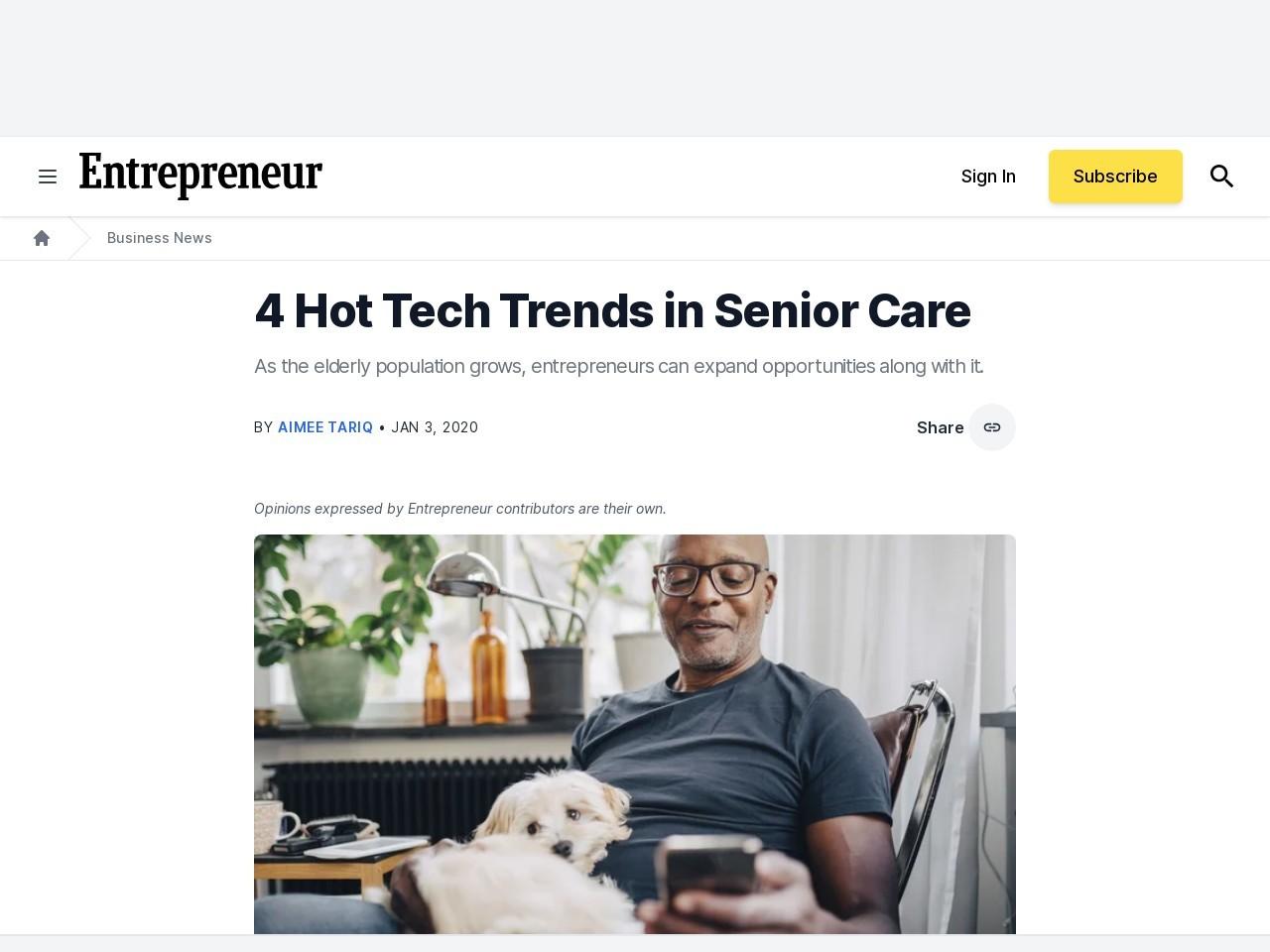 4 Hot Tech Trends in Senior Care
