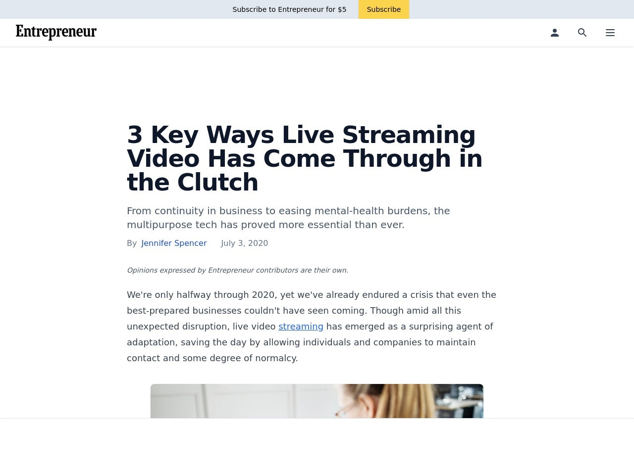 3 Key Ways Live Streaming Video Has Come Through in the Clutch