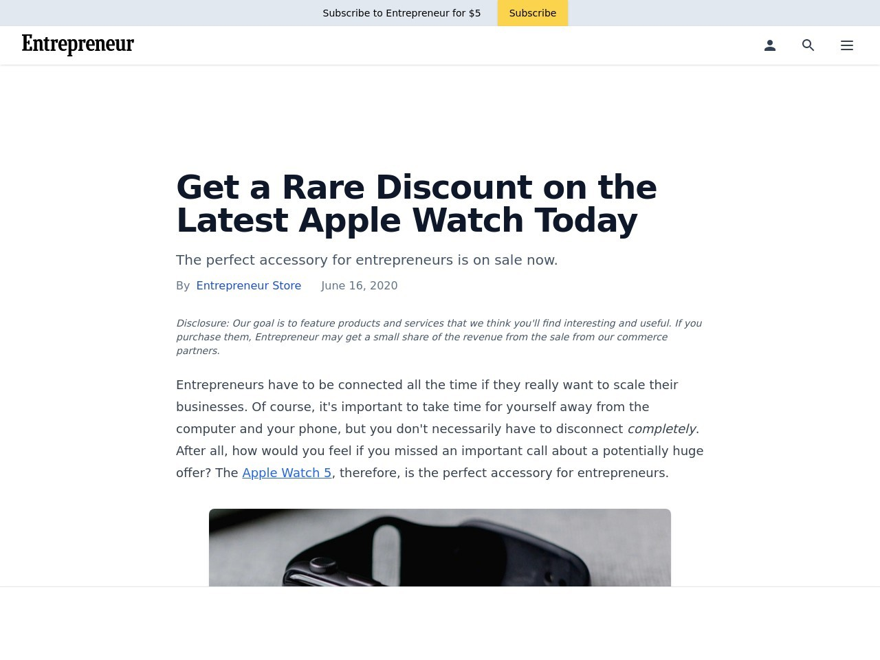 Get a Rare Discount on the Latest Apple Watch Today