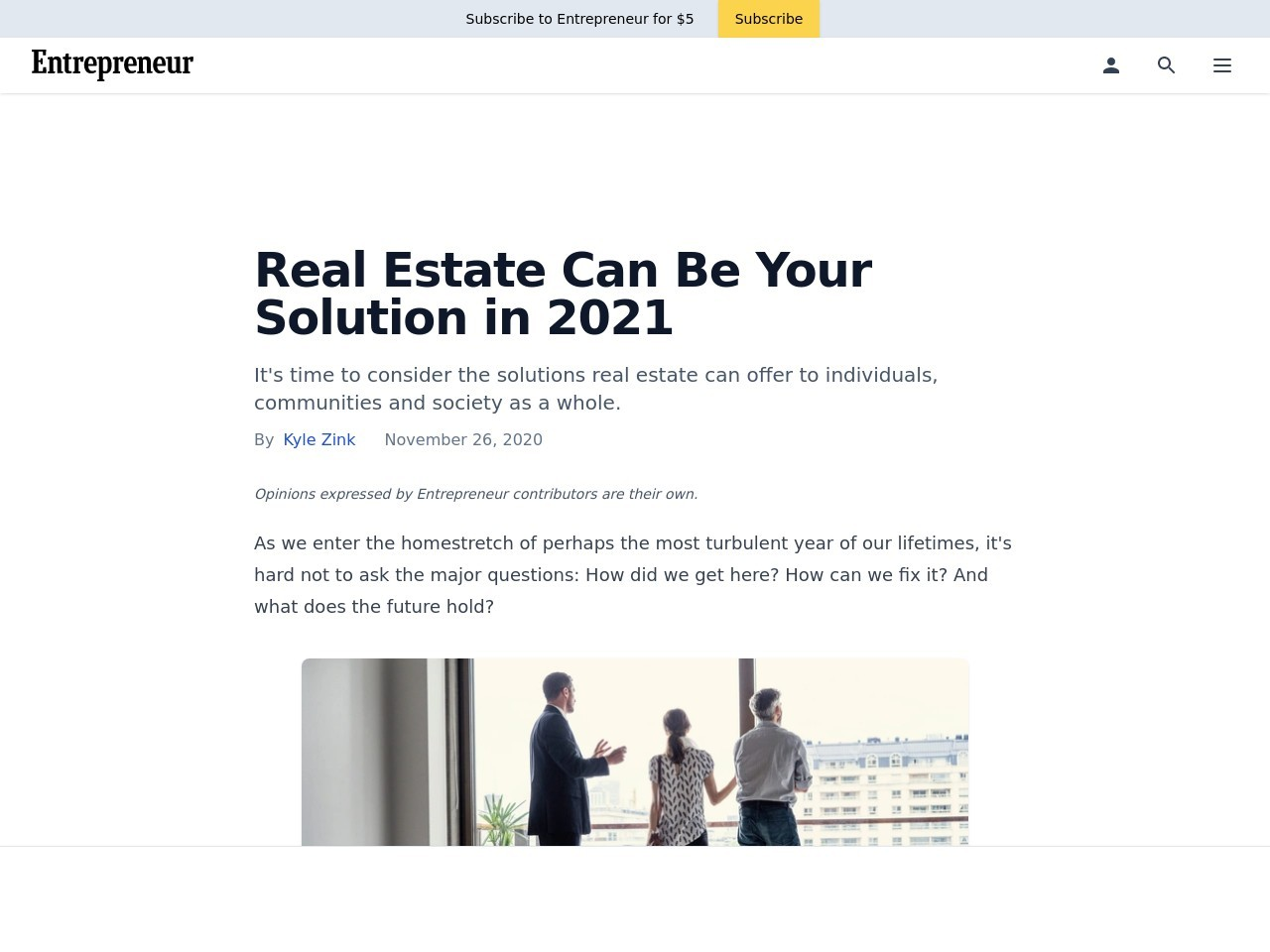 Real Estate Can Be Your Solution in 2021