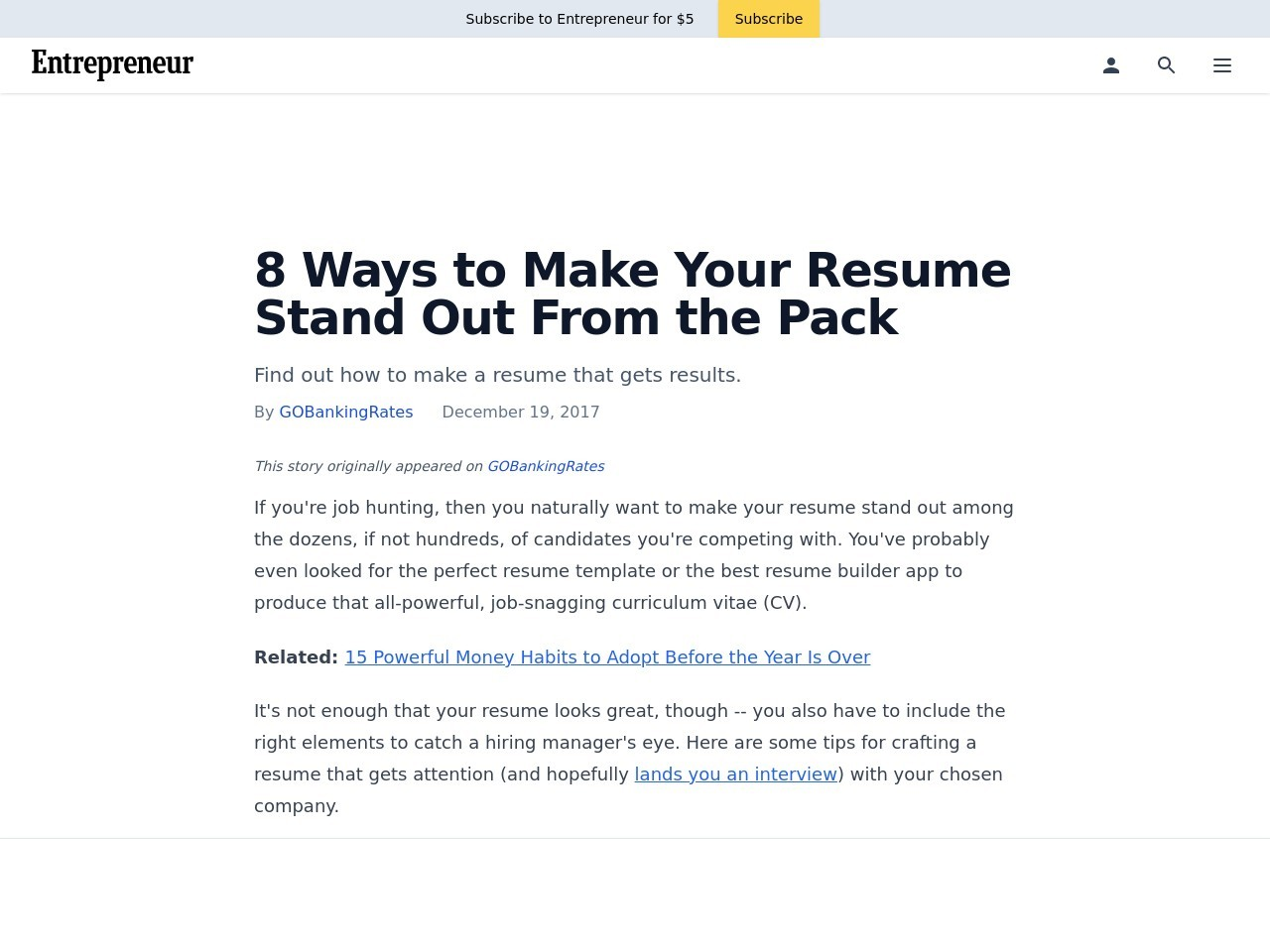 8 Ways to Make Your Resume Stand Out From the Pack