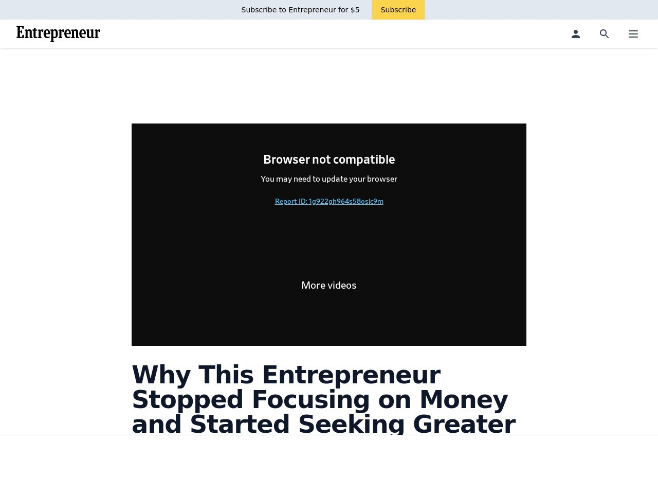 Why This Entrepreneur Stopped Focusing on Money and Started Seeking Greater Human Connection