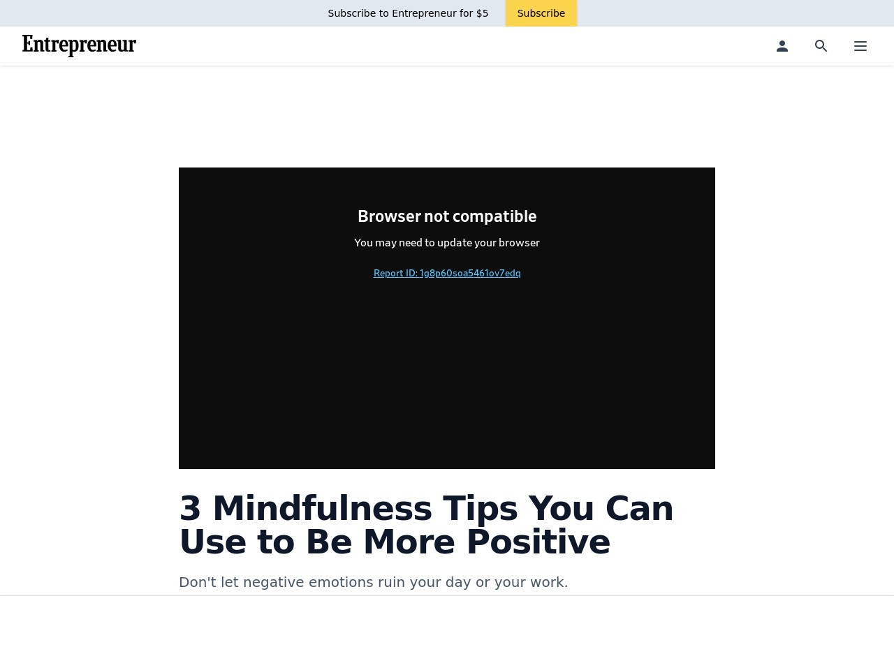 3 Mindfulness Tips You Can Use to Be More Positive