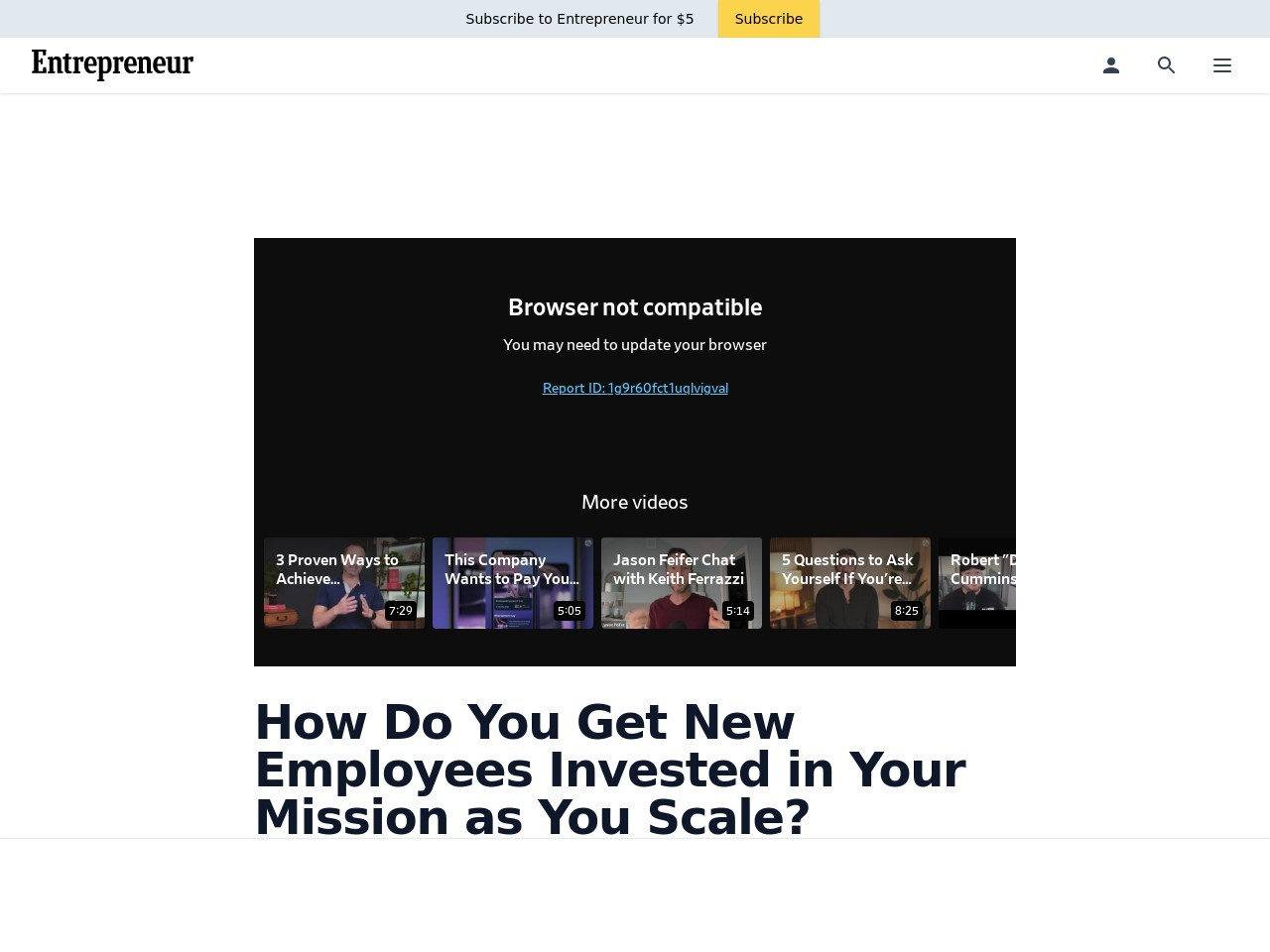 How Do You Get New Employees Invested in Your Mission as You Scale?
