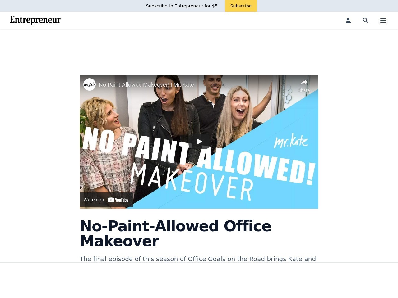 No-Paint-Allowed Office Makeover