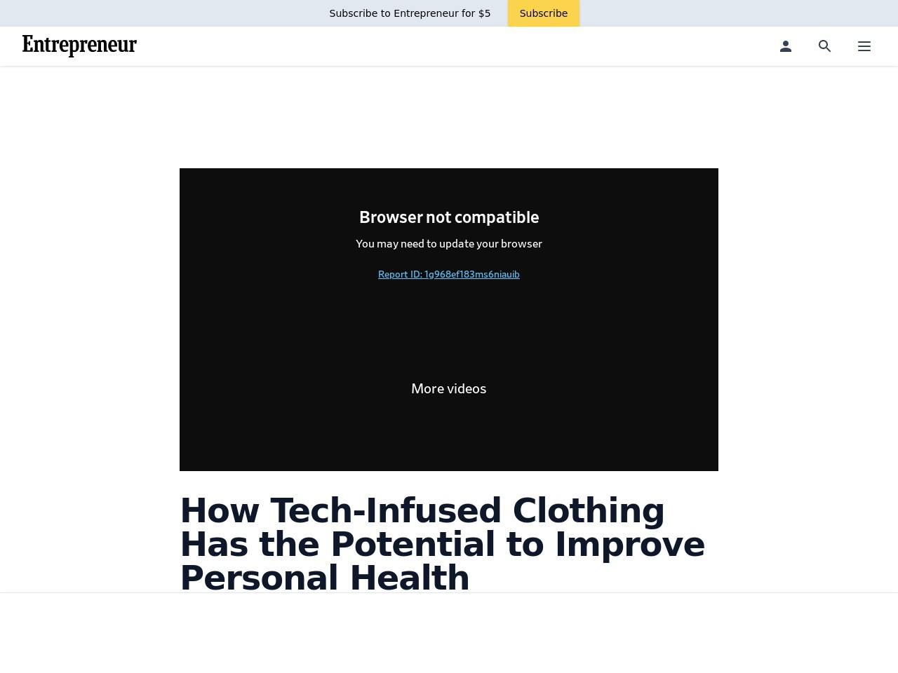 How Tech-Infused Clothing Has the Potential to Improve Personal Health
