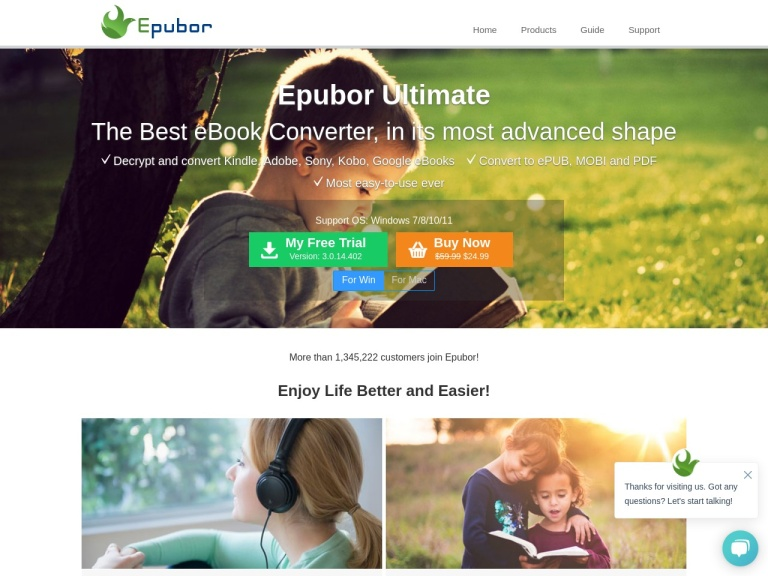 Epubor screenshot