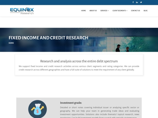 Fixed Income and credit research