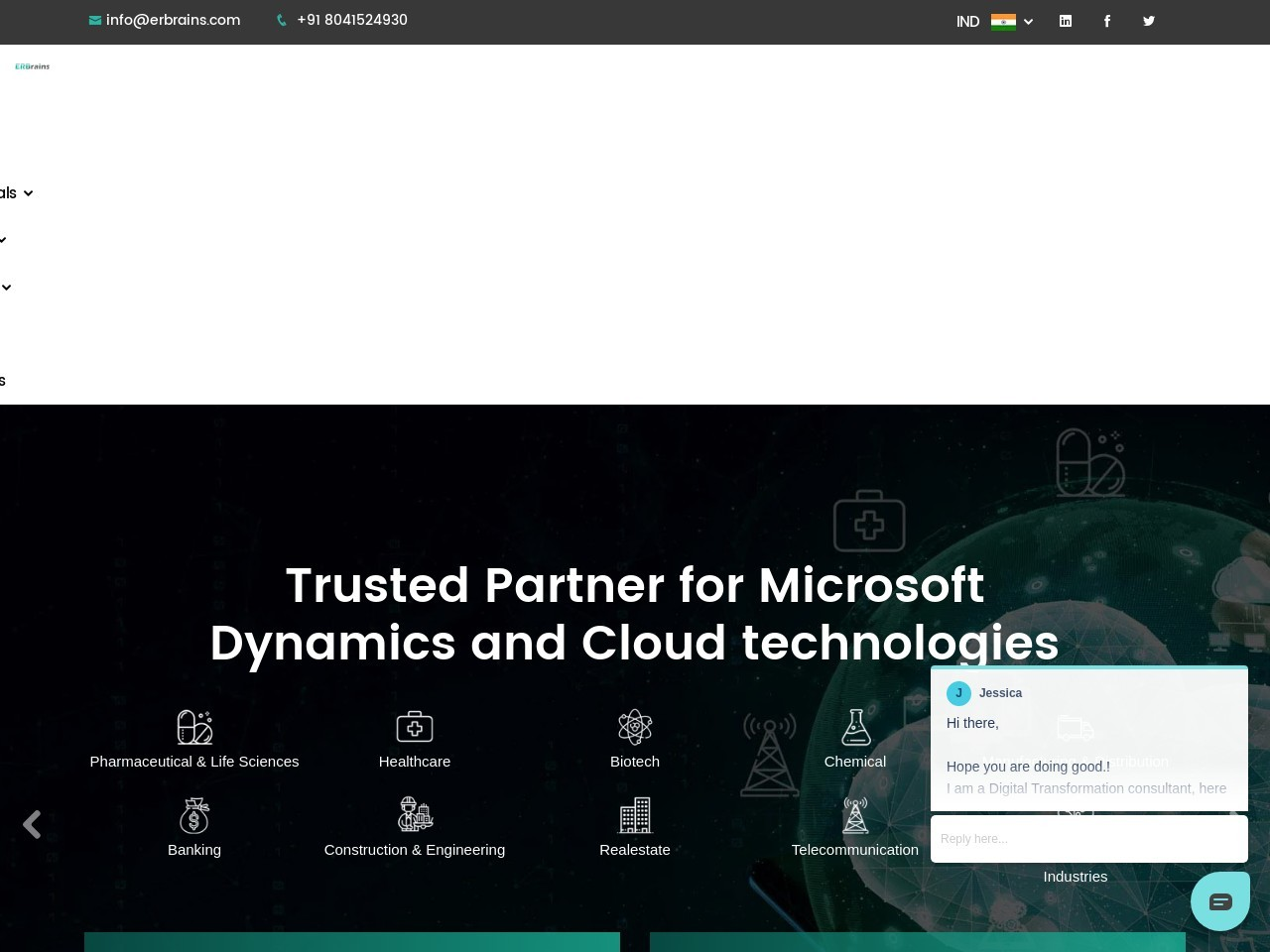 Microsoft Office 365 Implementation partner ERBrains India