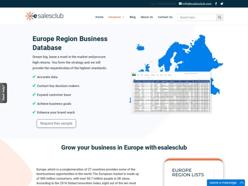 B2B Europe Business email leads