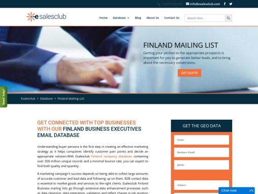 Best Quality Finland Mailing List | Finland Business Marketing Database