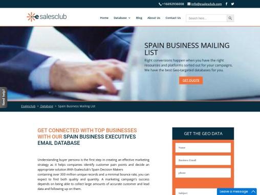 Buy B2B Spain Contact & Company Database Providers