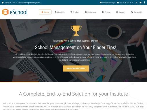 Pakistan's No. 1 School Management System -eSchool Software
