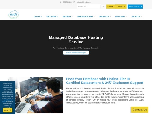 Managed Database Hosting Service and Management in India   ESDS