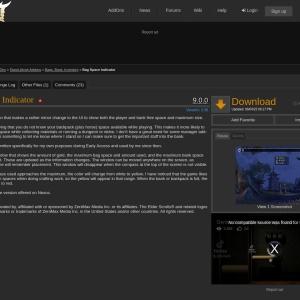 Bag Space Indicator : Bags, Bank, Inventory  : Elder Scrolls Online AddOns
