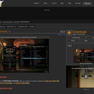 Item Set Browser : Data Mods  : Elder Scrolls Online AddOns