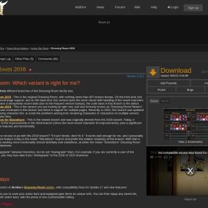 Dressing Room Reborn : Action Bar Mods  : Elder Scrolls Online AddOns
