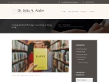 Counselling Psychologist HK | Dr. Julia A. Andre