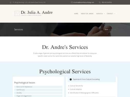 Specialized Psychological Services in Hong Kong