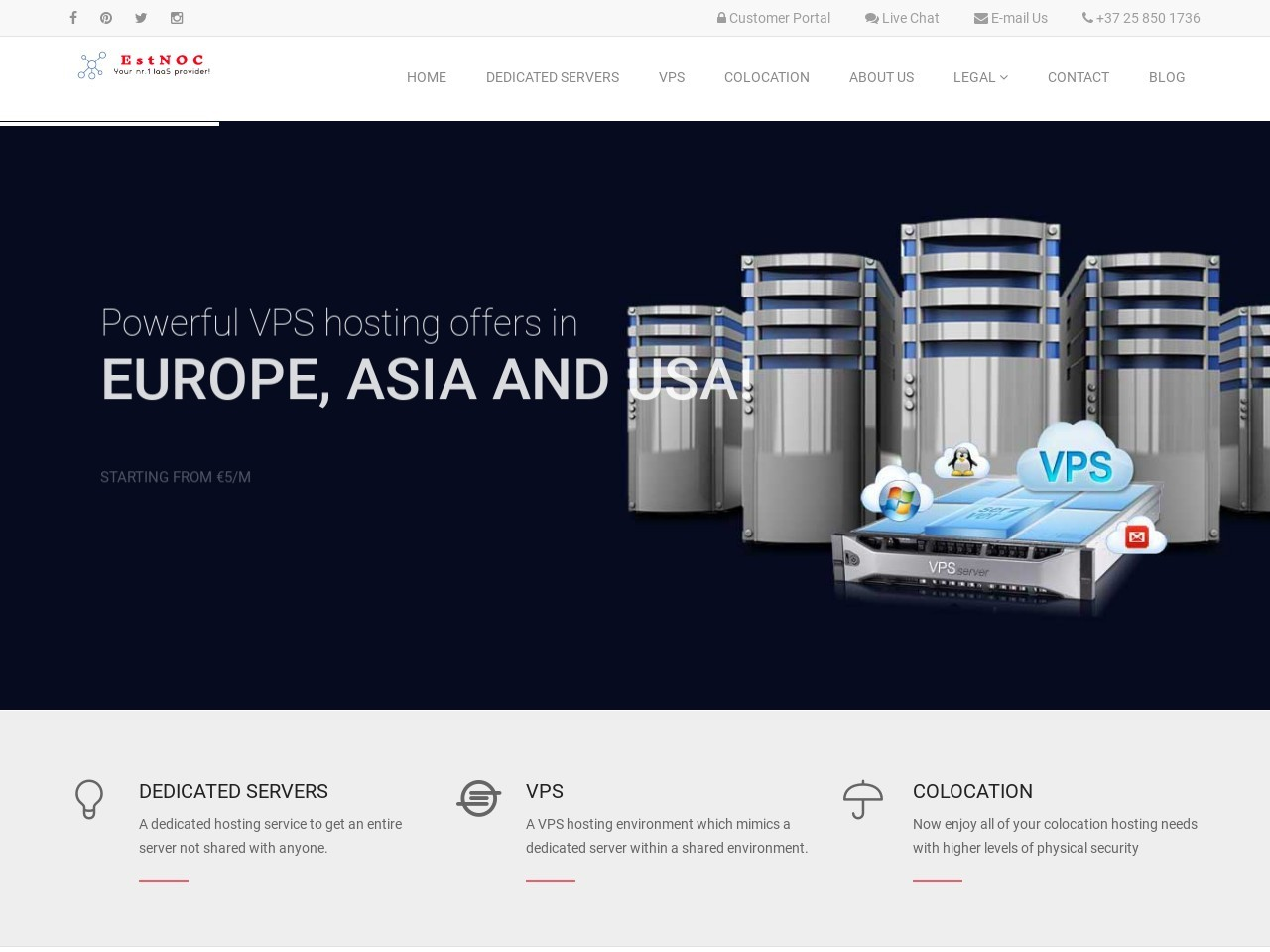 Dedicated Server Services | EstNoc