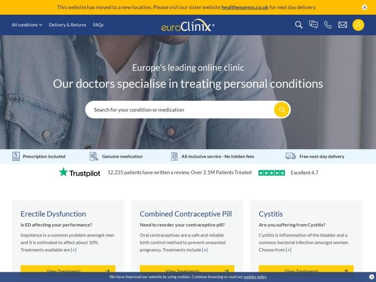 euroClinix screenshot