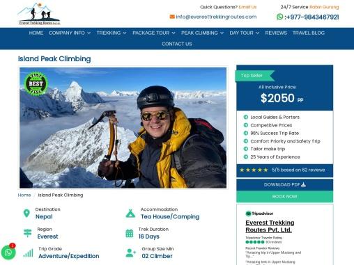 Everest Base Camp Via Island Peak Climbing