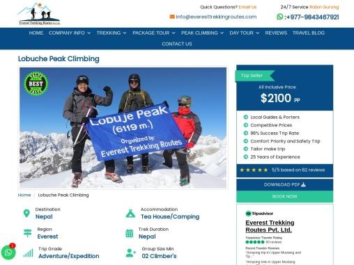 Everest Base Camp Via Lobuche Peak Climbing